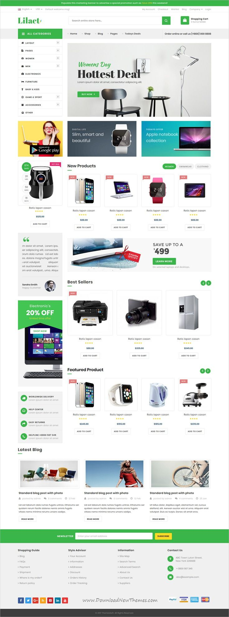 Lilac Responsive Ecommerce Template Lilacs Ecommerce And Template