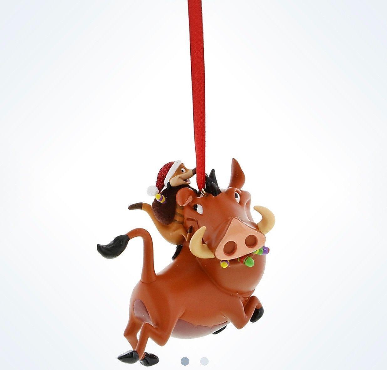 NEW DISNEY LION KING Pumbaa Warthog Christmas Ornament