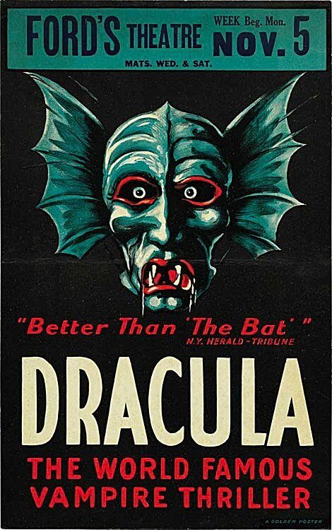 1928 Dracula Poster 1920 S Theatre Movie Posters Vintage