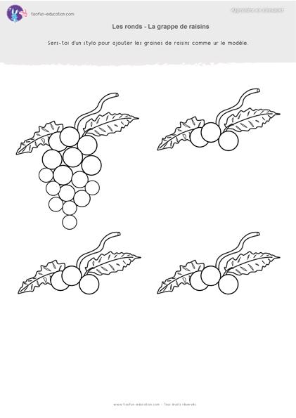 21 pdf fiche maternelle gs graphisme ronds grappe raisins a imprimer graphisme pinterest. Black Bedroom Furniture Sets. Home Design Ideas