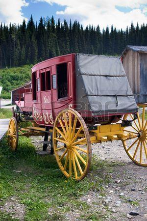 antiguo diligencia occidental del vintage a partir de 1800.