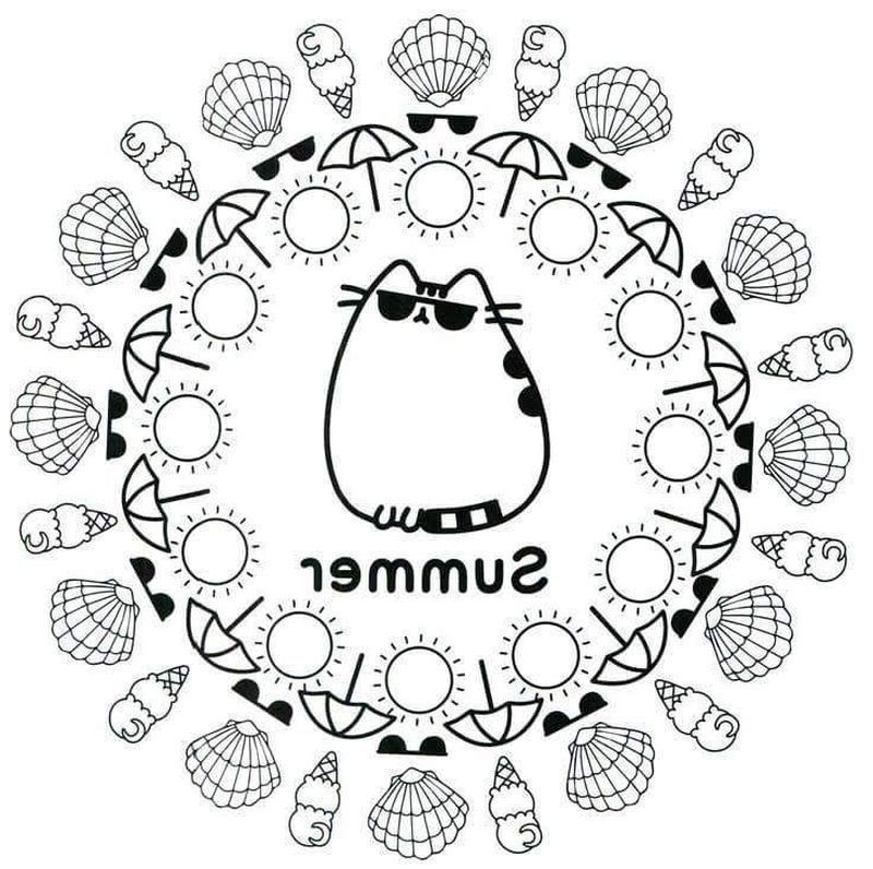 Get These Pusheen Coloring Pages And Have Fun With It In 2020 Pusheen Coloring Pages Summer Coloring Pages Coloring Pages For Teenagers