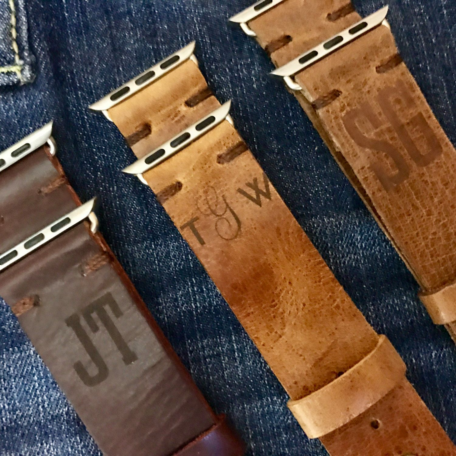 9743022bae2 Personalized Leather Apple Watch Band With Free Engraving