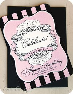 How To Make An Elegant 18th Birthday Invitation Card Elegant Invitations Personalized Invitations Pink Fairytale Baby Shower