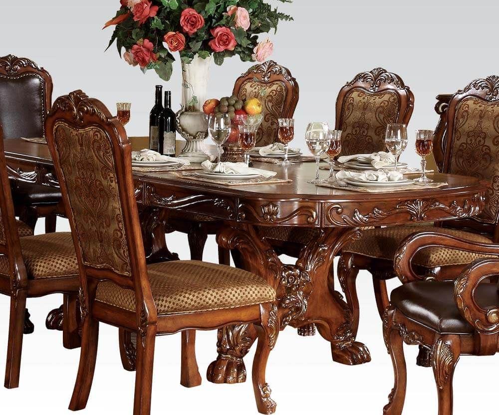 Dresden Wood Wood Veneer Dining Table In 2021 Dining Table Double Pedestal Dining Table Pedestal Dining Table