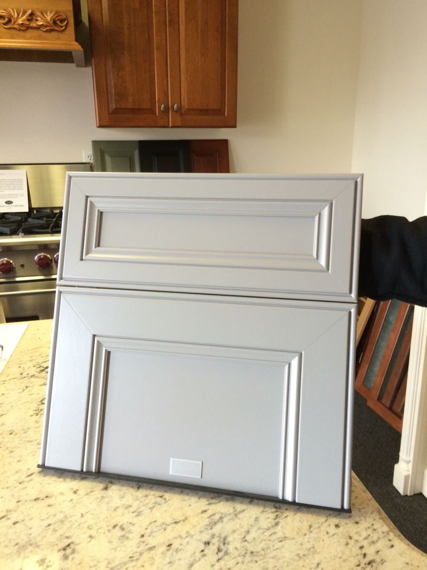 Gray Cabinets To Go With Thunder White Granite And Arctic