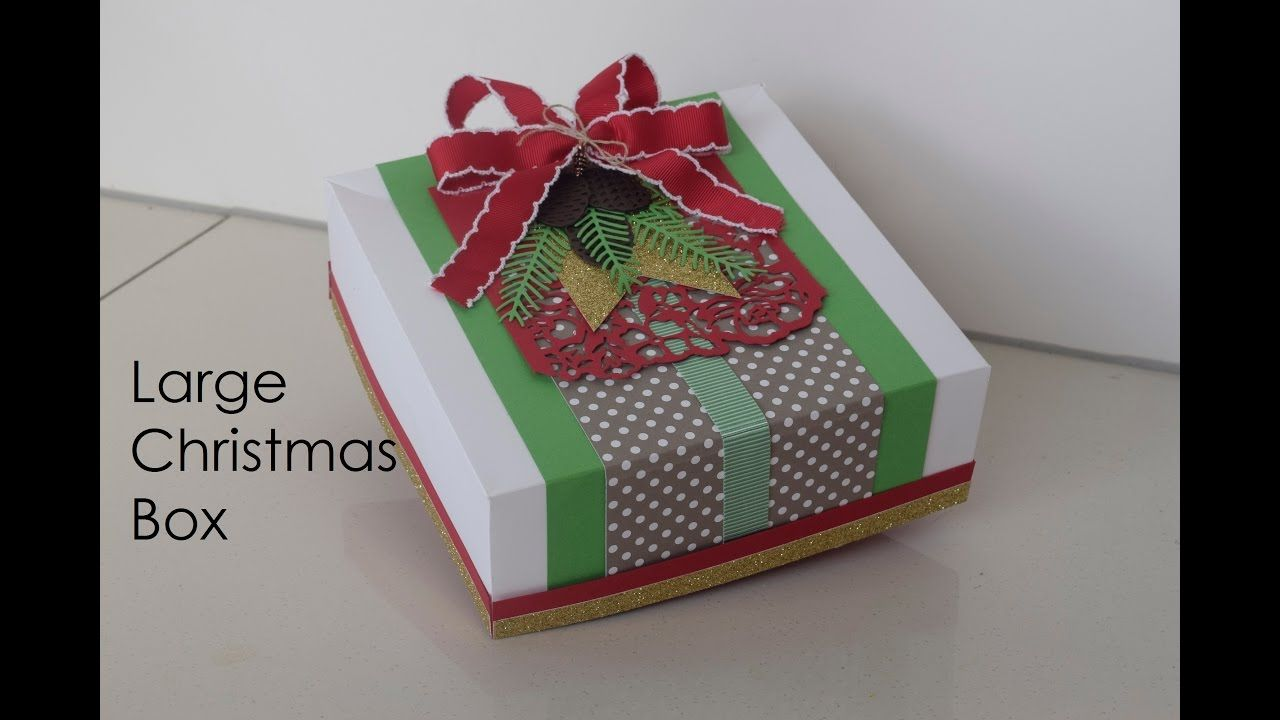 Large Christmas Box Christmas box, Christmas crafts for