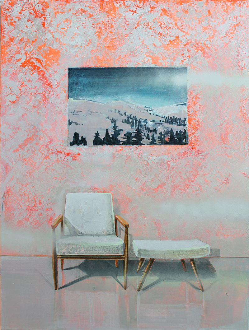 blurring outdoor home 1 80x60cm, Tusche und Acryl auf Leinwand - ink / acrylic on canvas, Malerei - painting, Tessa Wolkersdorfer