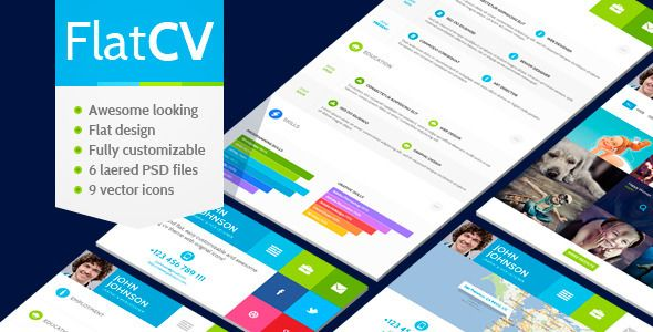 Discount Deals FlatCV - vCard Resume PSD Templatetoday price drop and special promotion. Get The best buy