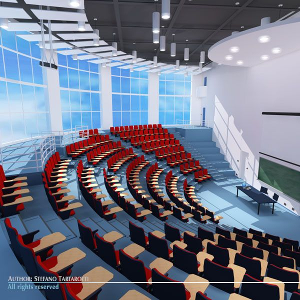 Auditorium lecture hall lecture theater design for Lecture plan architecte
