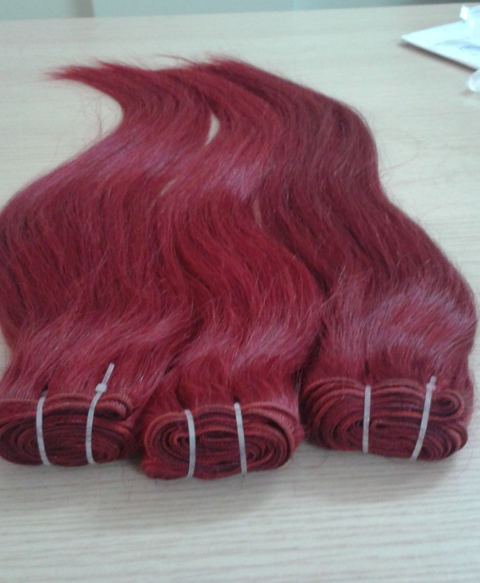 Vietnam Hair Color Red Machine Weft Hair 33 Single Drawn Hair