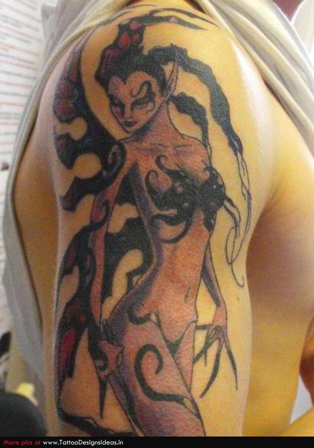 Evil Fairy Tattoos | evil fairy tattoo | Fire faery ...