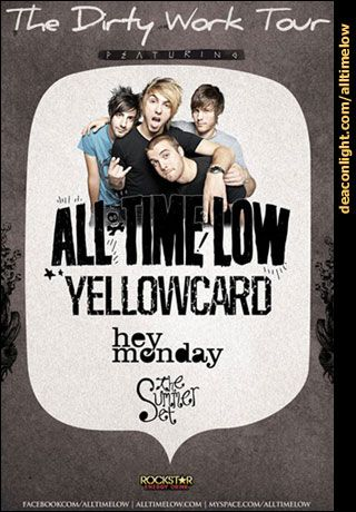 All Time Low Dirty Work Tour