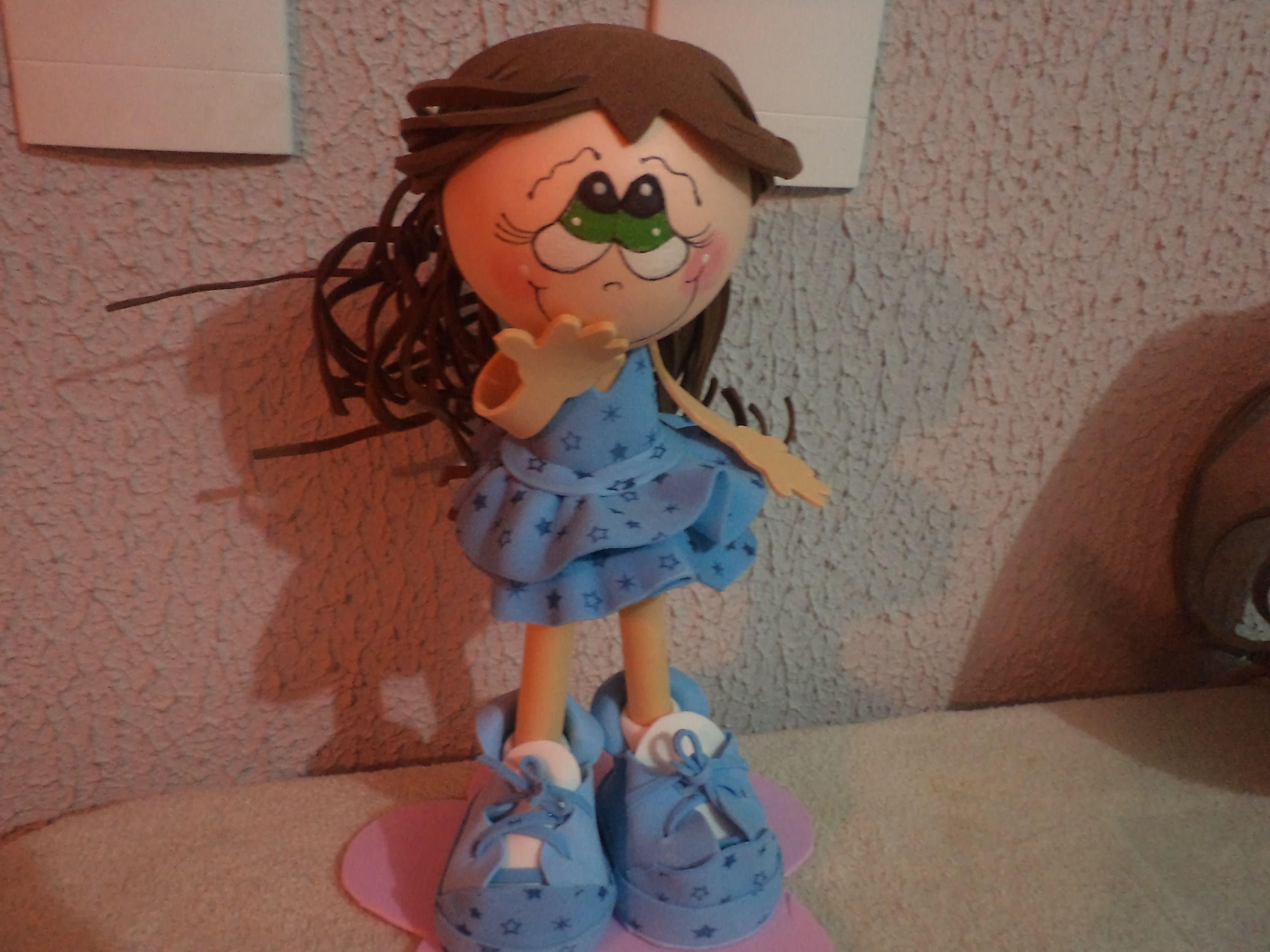 fofucha foi dada de presente da minha filha para uma colequinha da escola