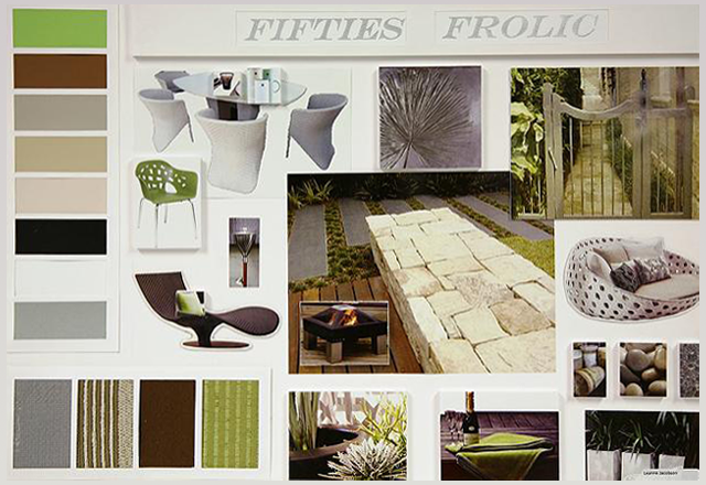 Design Presentation Board With Centre Outward Layout ...