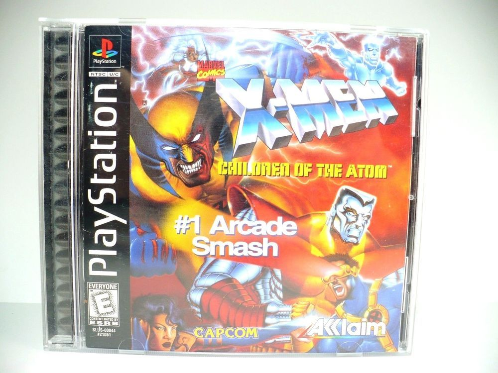 X Men Children Of The Atom Sony Playstation Ps1 Capcom Video Game Sony Playstation Playstation Ps2 Games