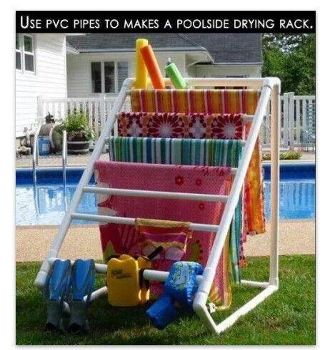 Pool drying rack