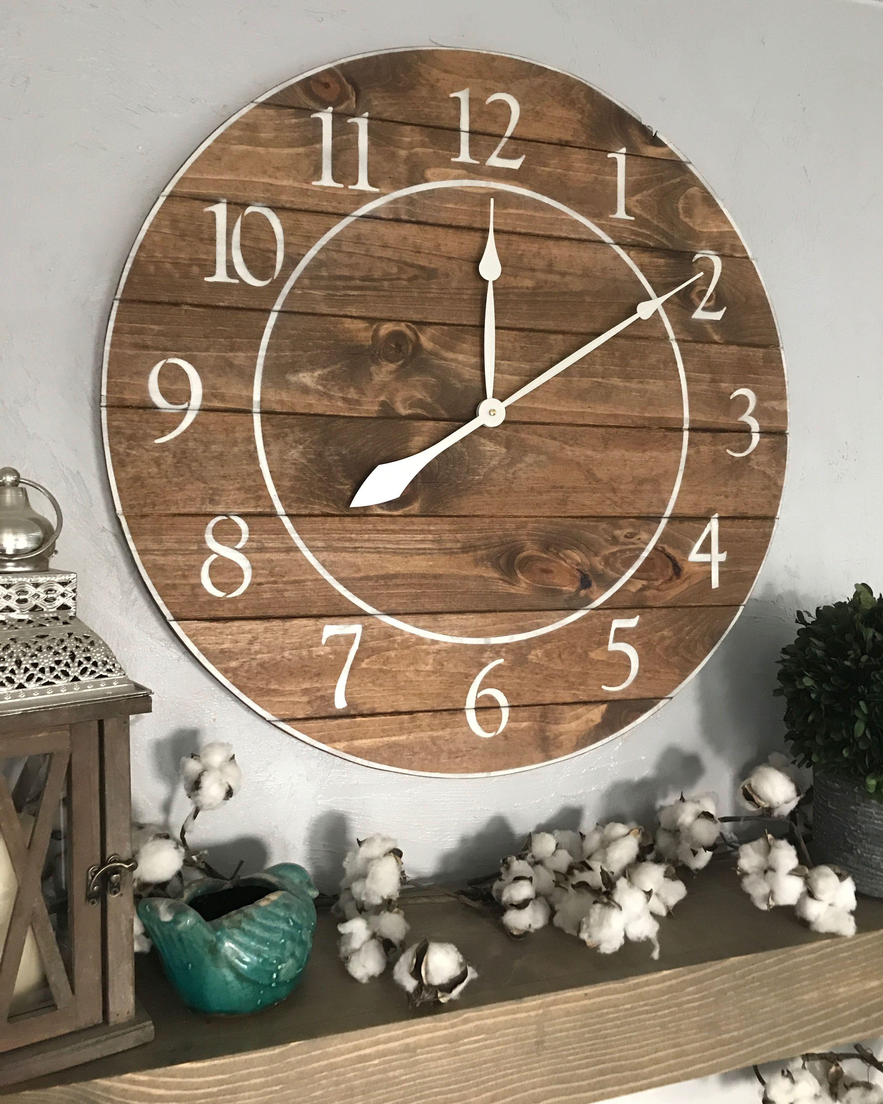 Big Wall Clock The Judith Rustic Wall