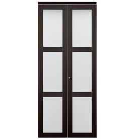 Reliabilt in  espresso lite tempered frosted glass interior bifold closet door also rh pinterest