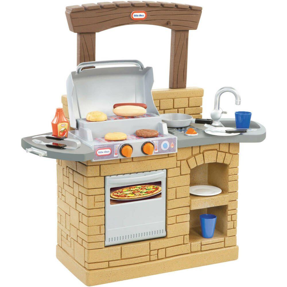 Kids cooking barbecue kitchen set picnic children pretend