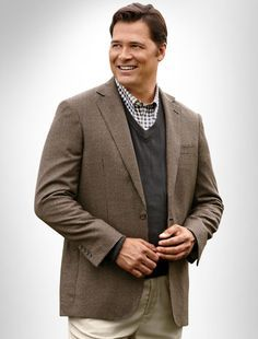 Layering with a sports coat adds interesting detail. | Looks for ...