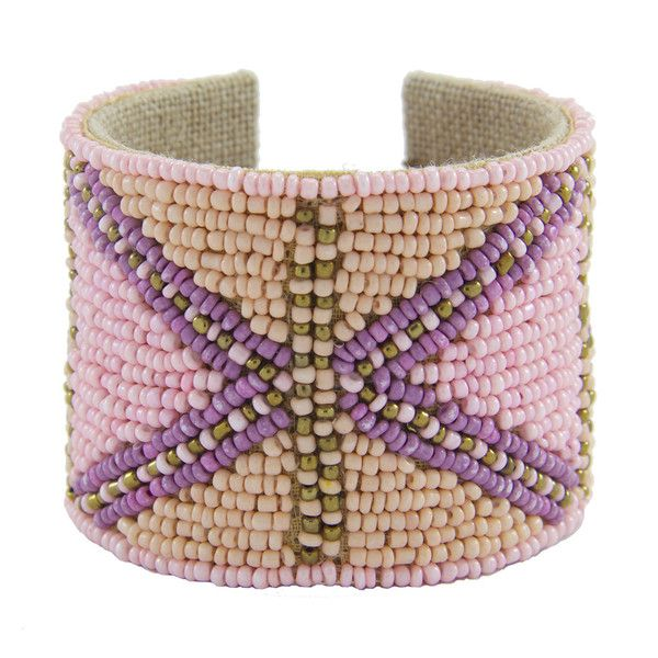 Jack Pattern Devi Cuff in Lilac & Latte by Sam DuPont