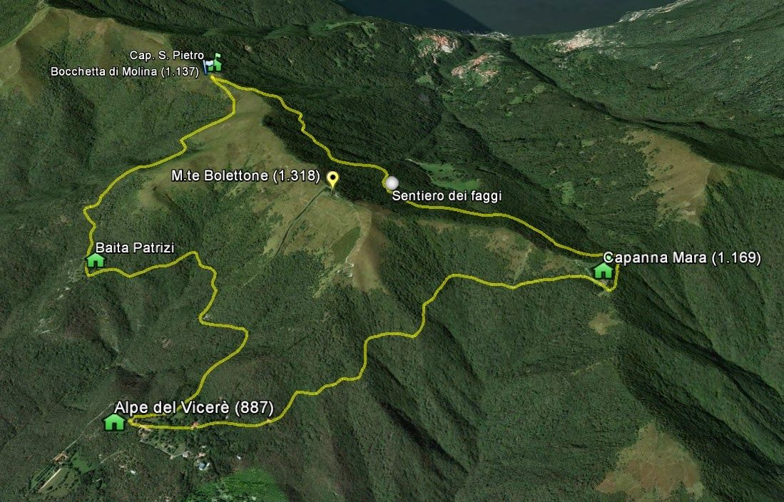 Percorso della gara Giroingiro sui monti lariani..... | Lago di ...