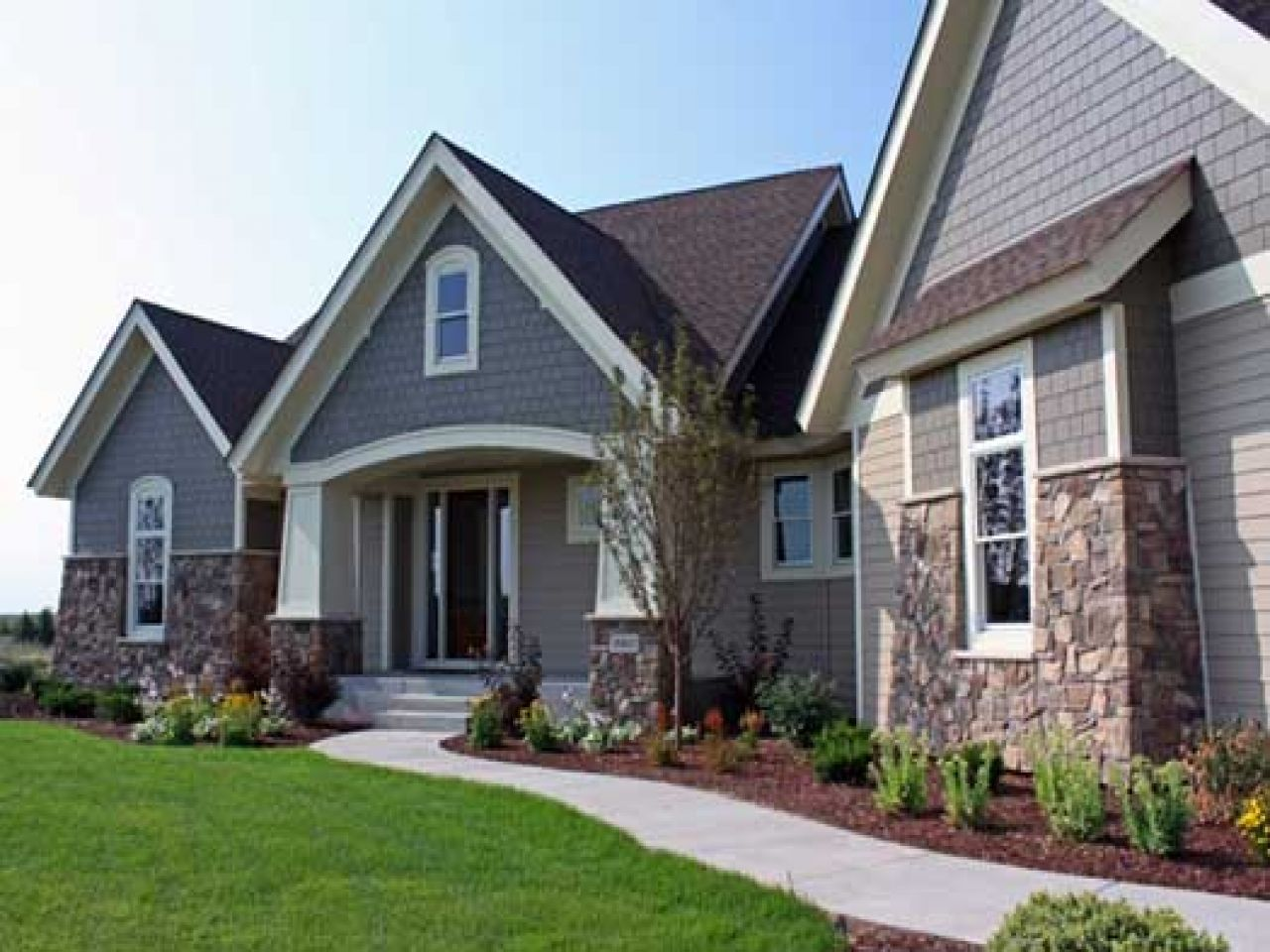 Story craftsman style homes one house plans modern contemporary