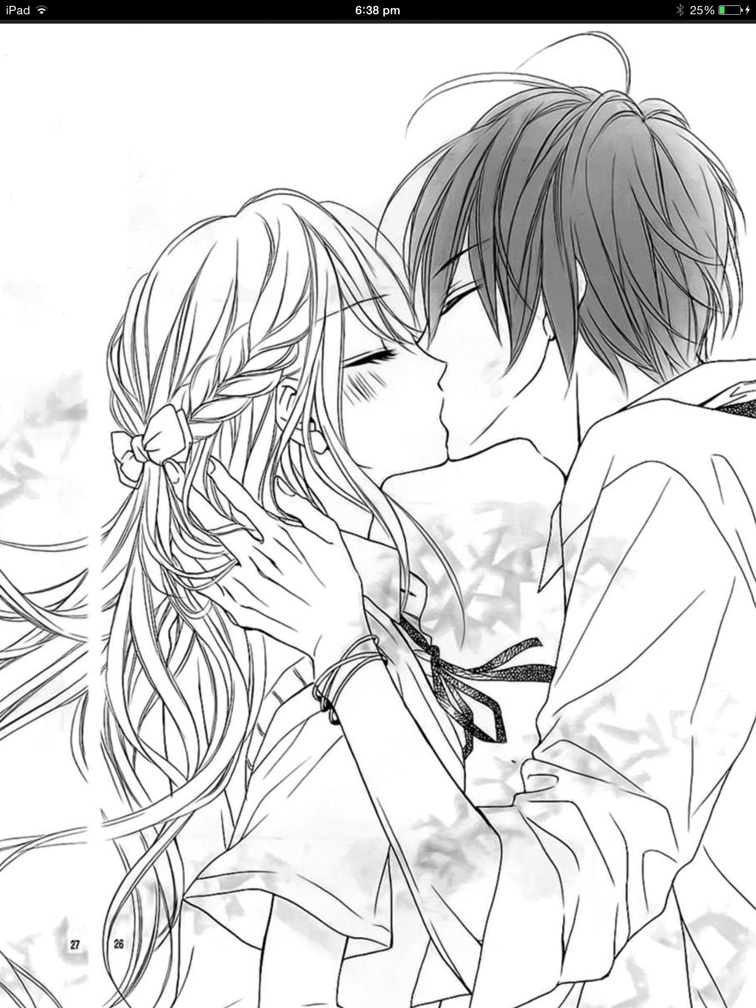 Dessin facile manga fille amoureuse dessin de manga - Comment colorier un manga ...