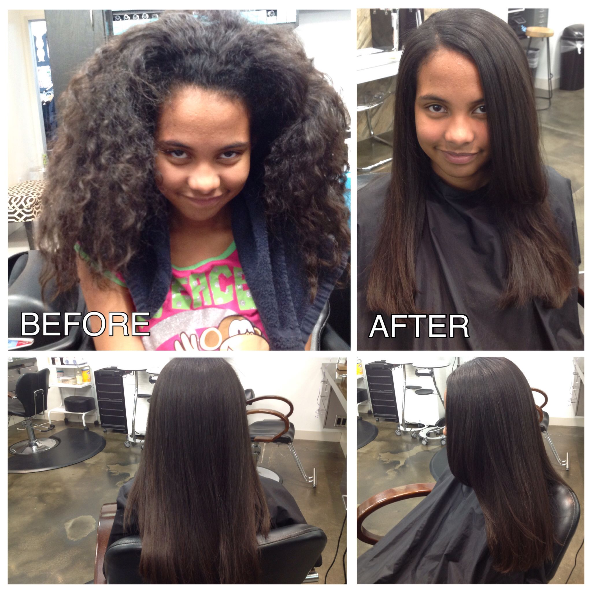 Before And After Brazilianblowout Brazilianblowout Frizz Hair Thewoodlands 77389 Brazilian Blowout Frizz Hair