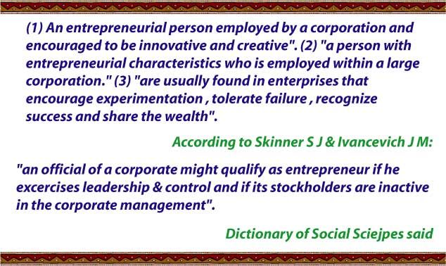 Intrapreneurship Definition By Many Authors Definitions