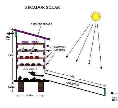 Secador Solar De Frutas Carne Hortalizas Hierbas Aromaticas Granos En Este Tipo De Secadores Hay Quienes En El Du Solar Energy Diy Solar Diy Solar