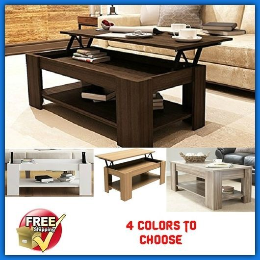 Unusual Lift Top Up Coffee Table With Storage Modern Retro