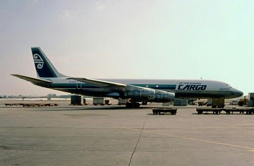 Air New Zealand DC-8 Freighter. Image via google copyright owner
