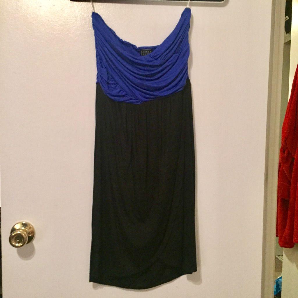 Blue And Black Tube Top Dress Nwt