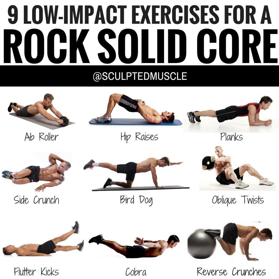 12 LOWIMPACT EXERCISES FOR A ROCK SOLID CORE! You can