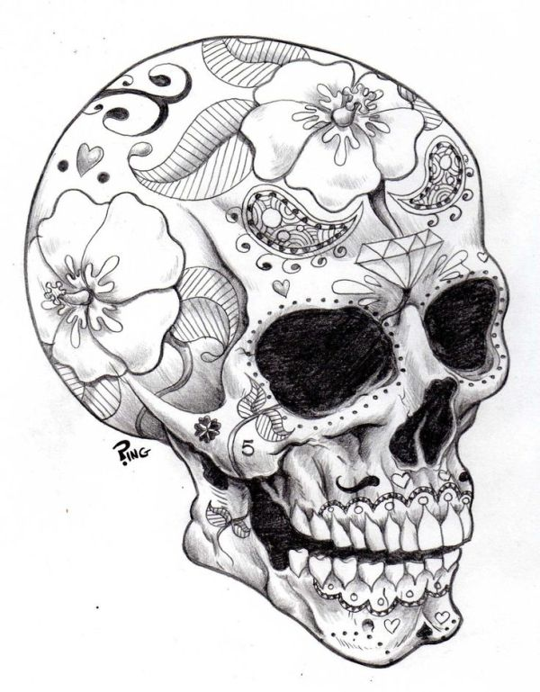 Sugar Skulls Coloring Pages | Printable Coloring Pages by trudybell ...
