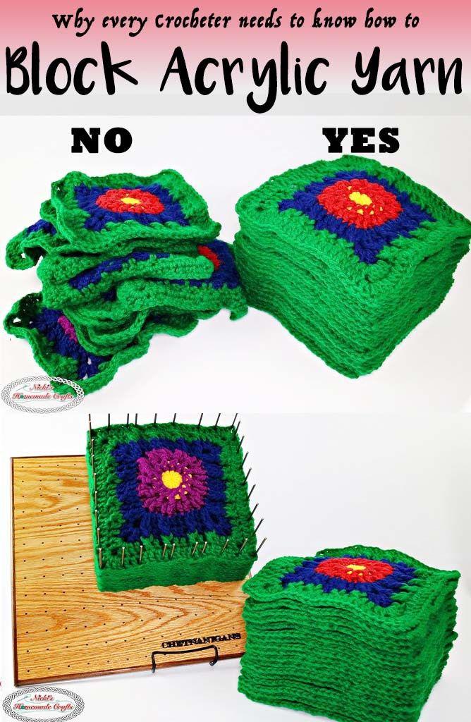 Blocking Acrylic Yarn Using A Steamer And A Blocking Board Diy Crochet And Knitting Acrylic Yarn Yarn