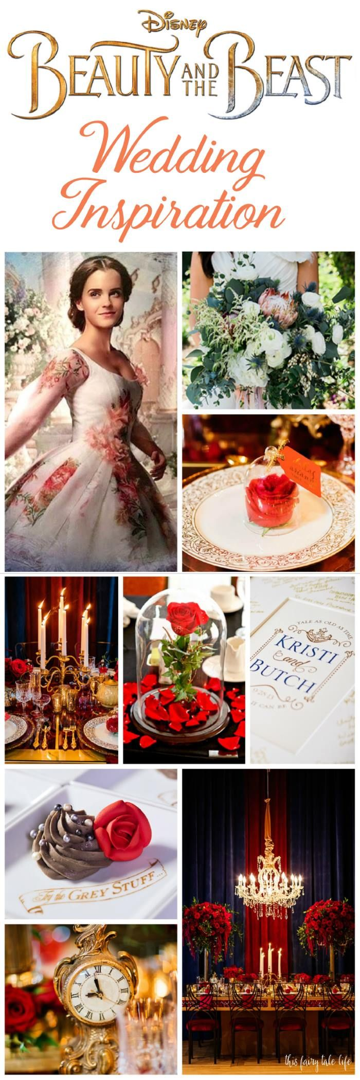 Live Action Beauty And The Beast Wedding Inspiration This Fairy Tale Life Beauty And Beast Wedding Disney Wedding Theme Beauty And The Beast Wedding Theme