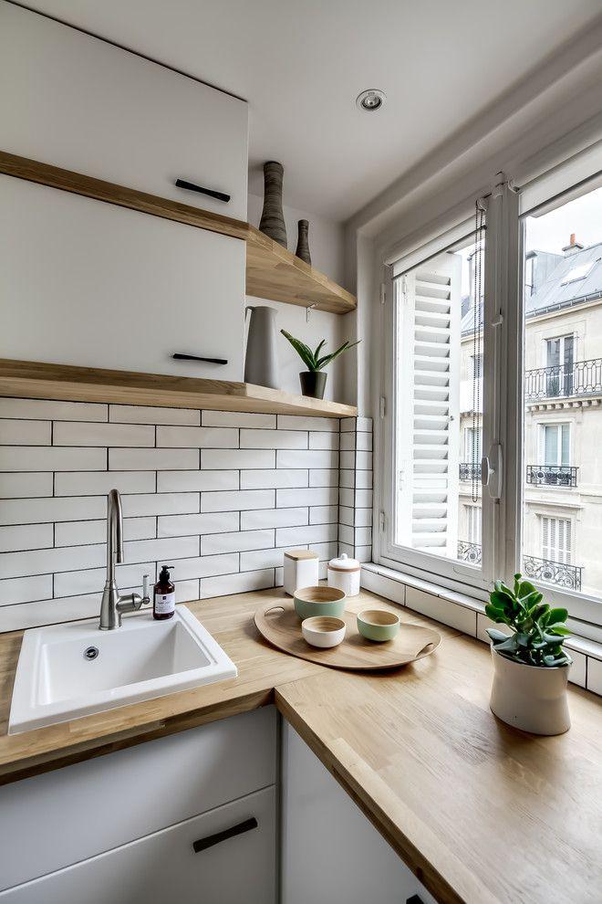 Modele de cuisine ikea dans scandinave cuisine avec - Ikea salle de bain petit espace ...