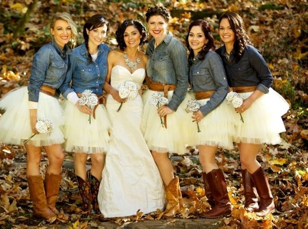 a214d41e803 Lace wedding dresses 2018 Love the denim shirt   boots but not the tutu. It  would be better with sundresses