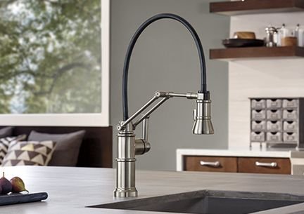The Artesso articulating kitchen faucet offers a larger range of ...