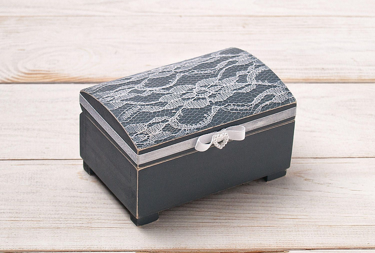 Engraved Wedding Ring Box Wooden Ring Box Ring Bearer Box Ring