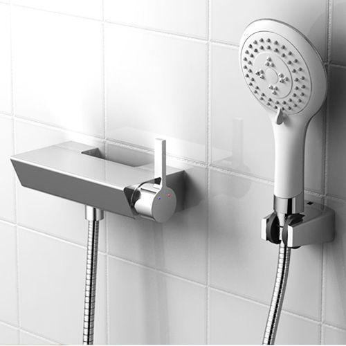 Free Shipping Modern Bathroom Hot And Cold Brass Bathtub Shower Faucet Tap Ceramic Valve Bathroom Set In Bath Show Bathtub Shower Shower Faucet Bathroom Sets