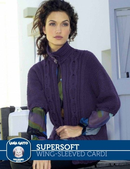 Free Pattern On Knitting Fever Supersoft Wing Sleevedcardifrom