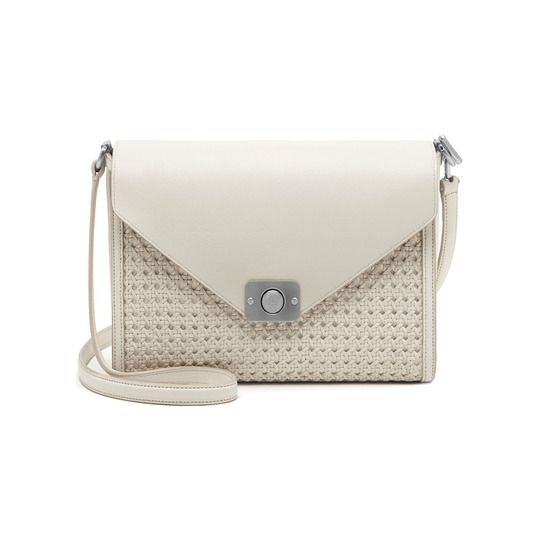 8aaa2e9bdbae Mulberry new hand-woven leather - Delphie in Cream   Powder Duo Colours