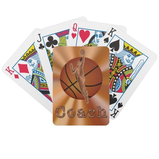Basketball Playing Cards Basketball Coach Gifts Bicycle Playing Cards Zazzle Com Personalized Coach Gifts Basketball Coach Gifts Coach Gifts