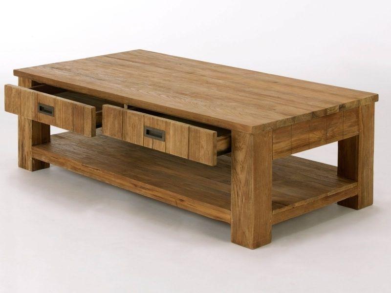 table basse glenmore en teck massif naturel pour salon massivum à