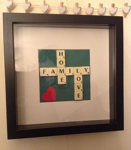 Family quote scrabble frame | Scrabble frame, Scrabble and Crafts