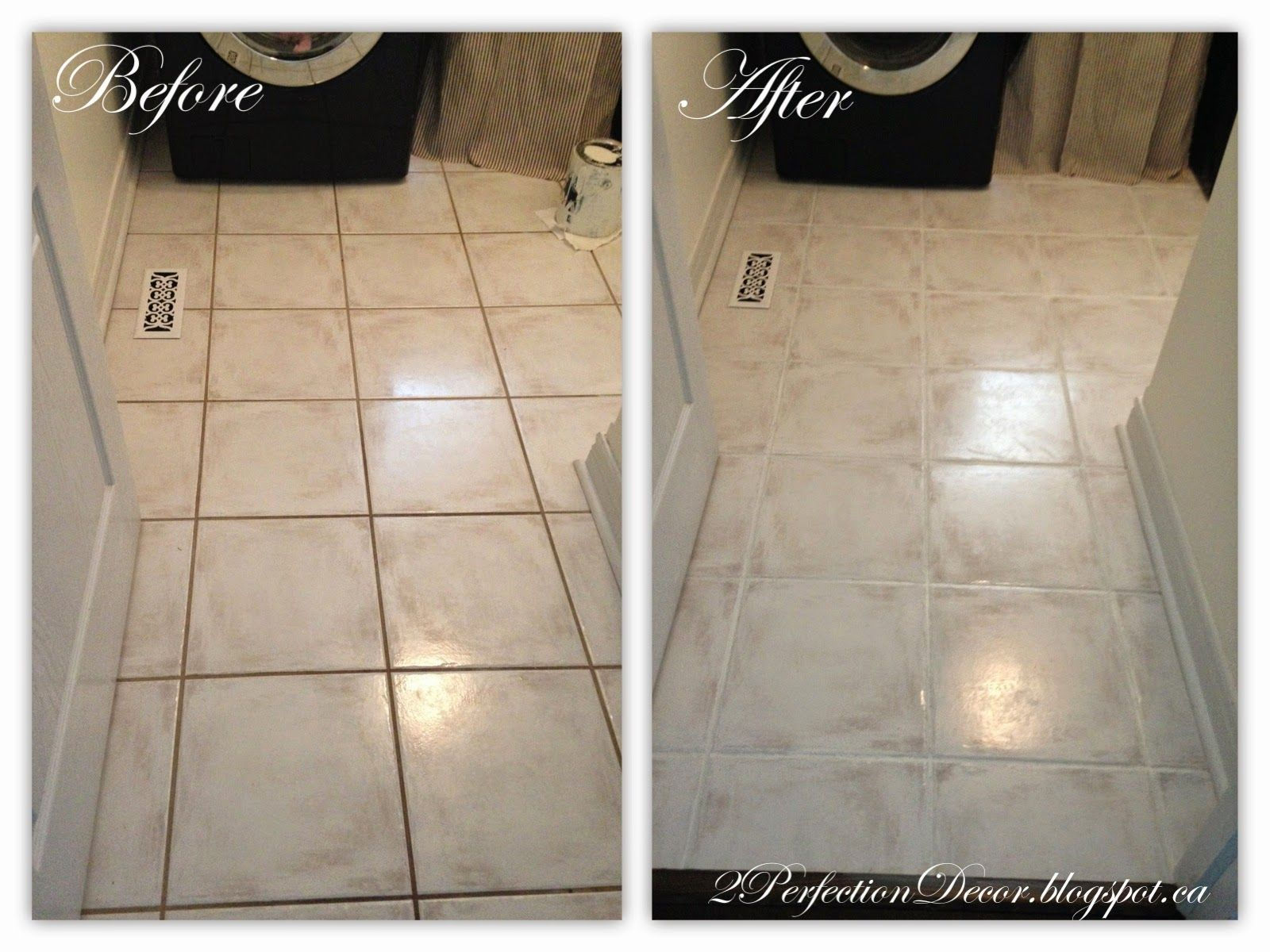 How To Paint Dark Grout White Transform Dark Dingy Floors Dark